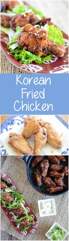 Korean Fried Chicken wings glazed with sweet spicy garlic soy sauce ...