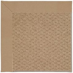 Capel Zoe Machine Tufted Biscuit and Beige Area Rug Rug Size: Square 10'