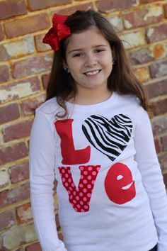 Valentine Shirt -  Zebra LOVE shirt with zebra heart