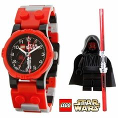 Help your young Padawan learn to tell time, this Lego Star Wars Darth Maul watch is great for kids