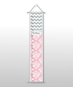 Take a look at this Zigzag & Damask Personalized Growth Chart by Farmhousefive Art for Kids on #zulily today!