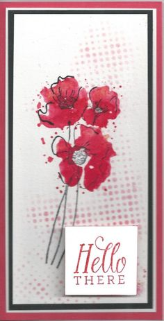 Watercolor Poppies by ksdavis - Cards and Paper Crafts at Splitcoaststampers Watercolor Poppies, Watercolor Cards, Watercolor Background, Watercolor Painting, Watercolors, Poppy Photo, Poppy Cards, Sponging, Easy Cards