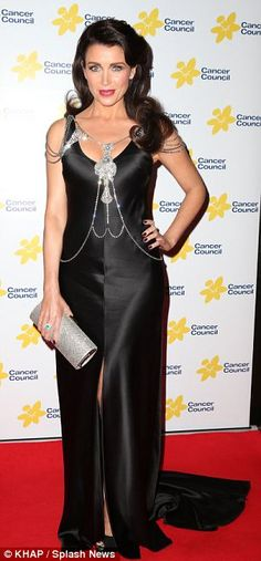 Diamante statement jewellery adorned and modelled on the red carpet by Dannii Minogue