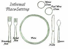 table setting   Informal Setting  sc 1 st  Pinterest & American Formal Table Setting - Bing Images   Table Settings ...