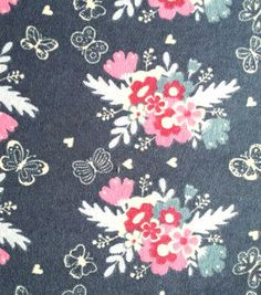 Snuggle Flannel Fabric-Bunches Of Flowers