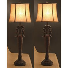 @Overstock - Add sophistication to any room in your home with these beautiful floor lamps. These elegant, contemporary lighting appliances complement many decors with exotic pattern accents.http://www.overstock.com/Home-Garden/Naples-34-inch-Table-Lamps-Set-of-2/6263361/product.html?CID=214117 $127.99