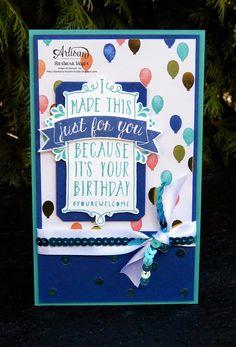 Barbara's creative studio: Birthday wishes - Artisan Design Team Blog Hop