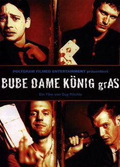 #1 Bube, Dame, König, GrAs (1998) Guy, Entertainment, Cult Movies, About Time Movie, Movie Tv, Crime, Movie Posters, Fictional Characters, Musica