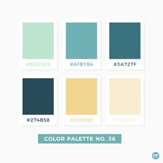 Color Palette No. 36 Color Palette No. Beach Color Palettes, House Color Palettes, Pastel Colour Palette, Colour Pallette, Color Palate, Colour Schemes, Pastel Colours, Colores Hex, Color Stories
