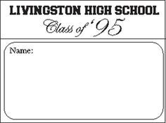 Image result for free name tag template for class reunion