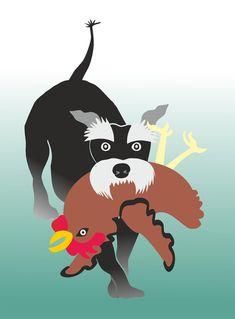 ...hat Henne gestohlen! (mein Schnauzer Money) Schnauzer, Creative, Snoopy, Money, Comics, Hats, Design, Fictional Characters, Creative Ideas