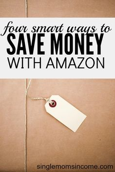 I love shopping with Amazon. I've also found several ways to get great deals over the years. Here are my four favorite ways to save with Amazon. http://singlemomsincome.com/my-4-favorite-ways-to-save-with-amazon/