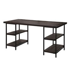 Renate Desk In Coffee Finish Ping Great Deals On Desks
