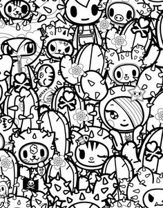 tokidoki coloring pages kids coloring - Tokidoki Donutella Coloring Pages