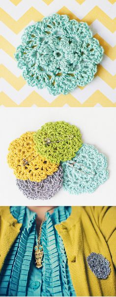 crochet pin doily by DIY goodknits