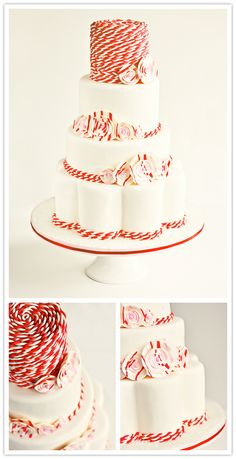 Sweetapolita cake brings baker's twine and peppermint together for a holiday wedding