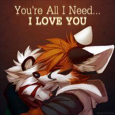 You're All I Need by thanshuhai.deviantart.com. Aww