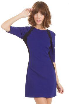 Blue Strikes Dress from Haute Attitude