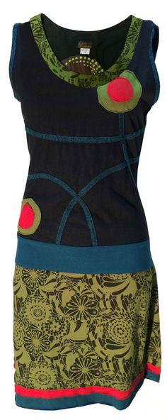 Handmade Cotton Hippie Natural Kathmandu Dress Boho Retro Vintage Cotton Spiral #LittleKathmandu #BohoHippie #Casual