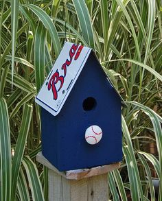 Atlanta Braves Birdhouse by ruraloriginals on Etsy, $28.00
