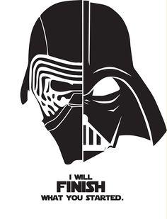 Darth Vader Kylo Ren I Will Finish Quote Poster Art Print A1 A2 A3 A4 Maxi