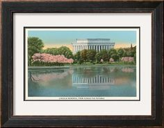 Lincoln Memorial from across the Potomac Art Print at Art.com