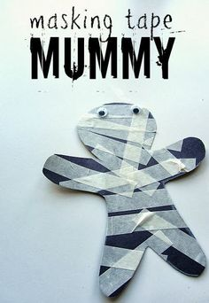 mummy... maybe wrap the tape around toilet paper rolls?!
