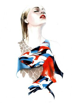 Portuguese illustrator Antonio Soares showcases the S/S2013 collections of Portuguese designers in his recent portfolio.