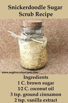 Body Scrub Recipe, Diy Body Scrub, Sugar Scrub Recipe, Diy Scrub, Sugar Scrub For Lips, Brown Sugar Scrub, Zucker Schrubben Diy, Diy Beauté, Sugar Scrub Homemade