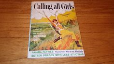 Calling All Girls January 1964 Emergency Jump cover 1960s vintage magazine
