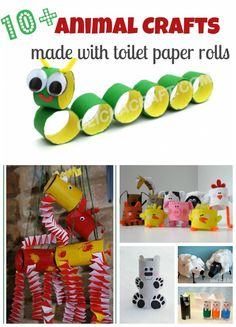 10 + Craft Ideas With Toilet Paper Rolls These are super cute.