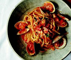 Vermicelli With Red Clam Sauce Recipe | from Lidia's Favorite Recipes cookbook | House & Home