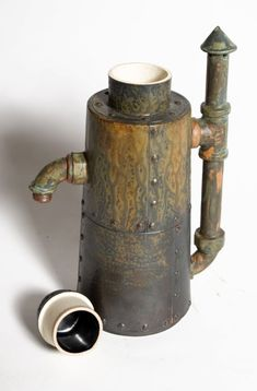 Ceramic 'Steampunk' Coffee Pots image 3