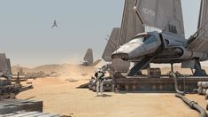 Mos Espa Spaceport: Forward Operations by Curtis Swihart | Matte Painting | 3D | CGSociety