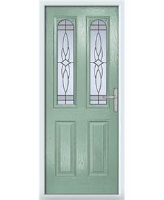 Jacobean Rockdoor in Onyx Black with White Diamonds   Front door ...