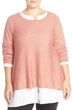 Eileen Fisher Cashmere Bateau Neck Sweater (Plus Size) available at #Nordstrom
