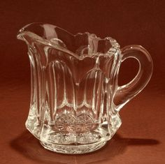 Heisey Colonial Scalloped Individual Creamer 400 Clear Glass Vintage.