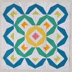 Amazingly lovely in every way! These colors and pattern are amazing. Block and pattern by Diane Bohn.