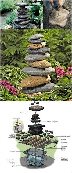 awesome DIY landscaping ideas | ... .com/10-waterfall-fountain-ideas-to-adorn-your-garden