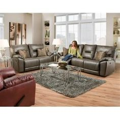 Shop for Southern Motion Dynamo Double Reclining Sofa, and other Living Room Sofas at Burke Furniture Inc. in Lexington, KY. New Furniture, Living Room Furniture, Living Room Decor, Bears Furniture, Furniture Ideas, 3 Piece Living Room Set, Living Room Sets, Power Reclining Loveseat