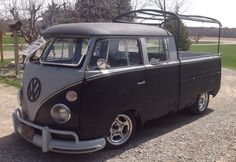 Nice looking black VW Double Cab ☮ #VWBus #volkswagen bus pinned by http://www.wfpblogs.com/author/thomas/