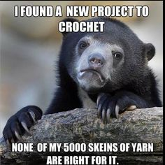 A crochet dilemma - so true!!  So true for knitting projects.  That is why I HAVE to buy new yarn for every new project or pattern.