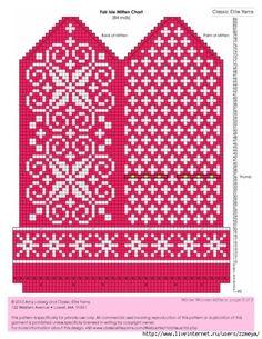 Bilderesultat for selbu charts knitting Knitted Mittens Pattern, Fair Isle Knitting Patterns, Knit Mittens, Knitting Charts, Knitted Gloves, Knitting Socks, Knitting Designs, Knitting Stitches, Knitting Projects