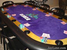 Purple Poker Table<3