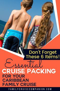 When planning a Caribbean cruise with kids, you will definitely want to pack these 6 items. These simple items will contribute to the fun factor for your kids and your own peace of mind. But, if you leave them behind, it will add to your aggravation, and unnecessarily inflate your expenses. who wants that? Be sure to add these to your family's Caribbean cruise packing list today. Packing List For Cruise, Cruise Tips, Packing Tips For Travel, Cruise Excursions, Cruise Destinations, Travel With Kids, Family Travel, Family Cruise, Caribbean Cruise