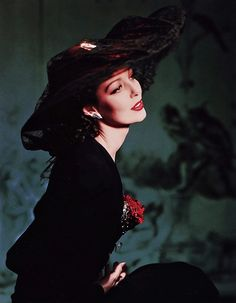 Loretta Young photographed by Horst P. Horst, 1941.