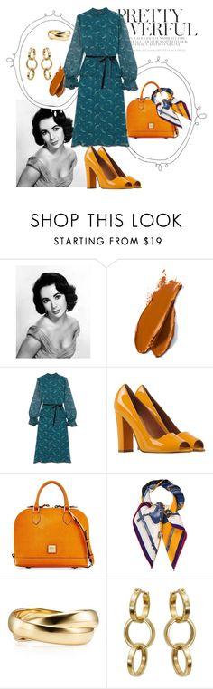 """""""Barbados Sunrise"""" by horrorcent ❤ liked on Polyvore featuring Elizabeth Taylor, Balmain, Anna Sui, Lanvin, Dooney & Bourke, Hermès, Tiffany & Co. and vintage"""