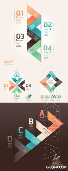 Modern origami infographics and web design » Download Graphic GFX Stock Vector Image PSD Sources Tutorials