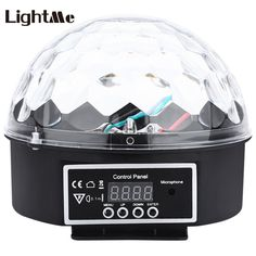KTV Projector Crystal Magic Ball Lights 27W 9 Colors LED RGB Stage Light Effect Professional Party Disco DJ With Remote Control