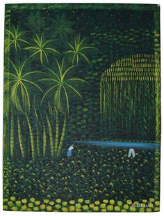Original Oil on Canvas Painting by Haitian Painter Henry Robert Bresil HR Haitian Art, Worlds Largest, Folk Art, Oil On Canvas, Primitive, Paintings, Artists, The Originals, Artwork